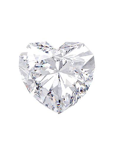 Diament serce 0,40 ct H SI2