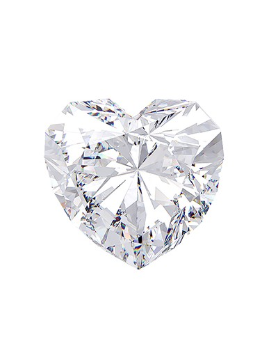 Diament serce 0,70 ct D IF