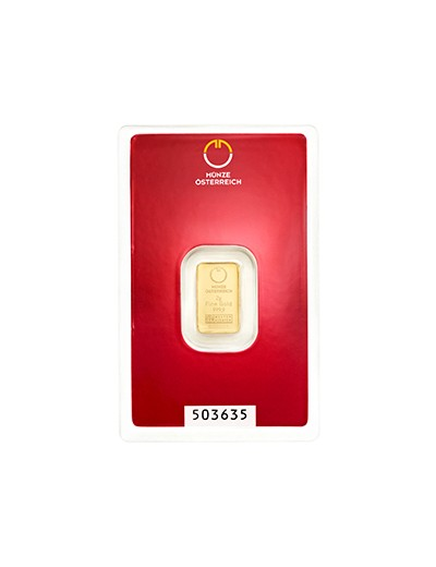 Sztabka złota 2 gramy