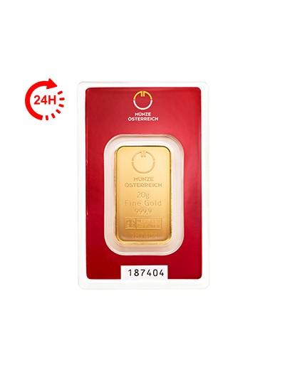 Sztabka Złota 20 gramów