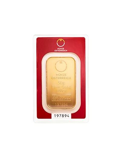 Sztabka Złota 50 gramów