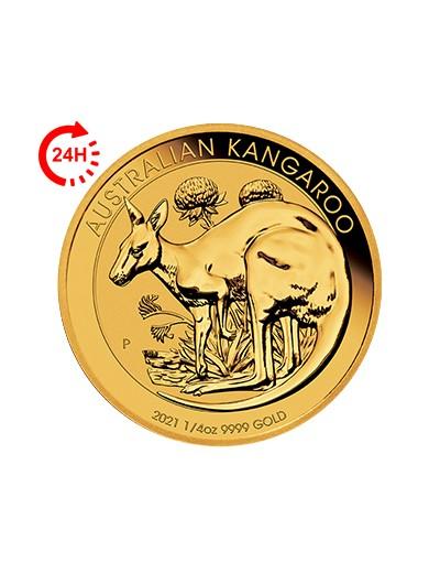 Australijski Kangur 2021 1/4 uncji złota rewers