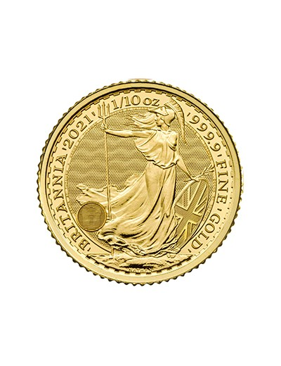 Britannia 2021 1/10 oz au rewers