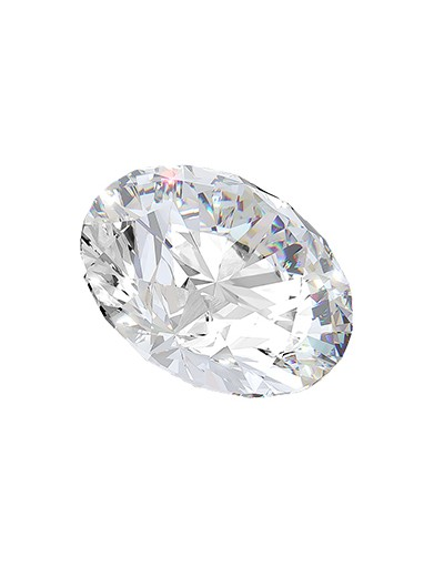 Diament owal 0,50 ct D IF