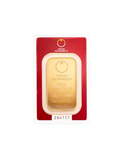 Sztabka złota 100 g