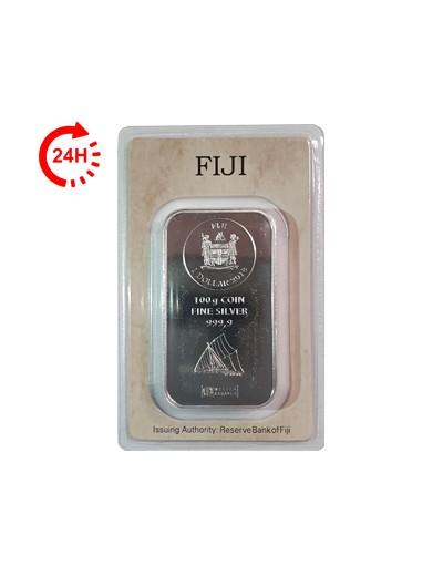 Sztabka srebra Fiji 100 g