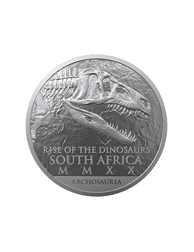 Srebrna moneta Coelophysis