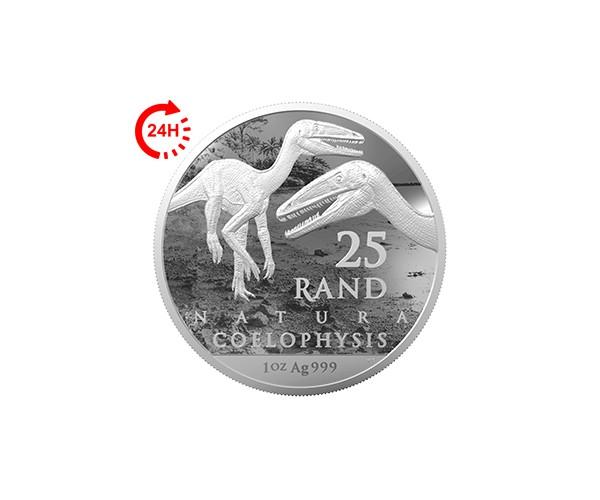 Srebrna moneta Coelophysis Natura 2020