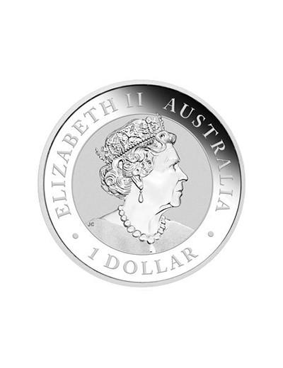 srebrna moneta australijski samorodek