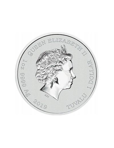 srebrna moneta Hulk