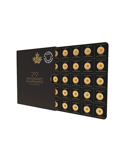 Złota Moneta Liść Klonowy 25 x 1 gram