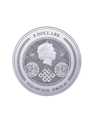 srebrna moneta Chronos