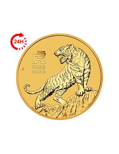 złota moneta Rok Tygrysa 2022