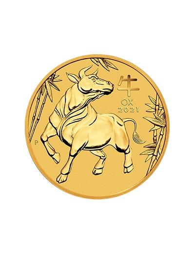 Rok Wołu 2021 1/4 uncji złota