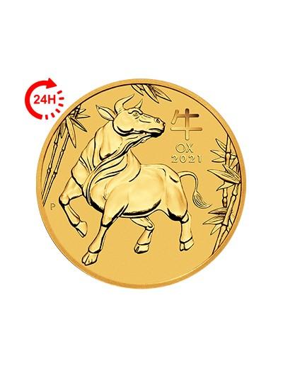 Rok Wołu 2021 1/10 uncji złota