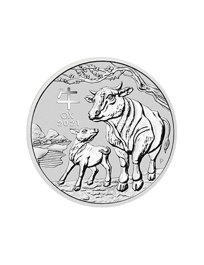 Rok Wołu 2021 2 uncje srebra