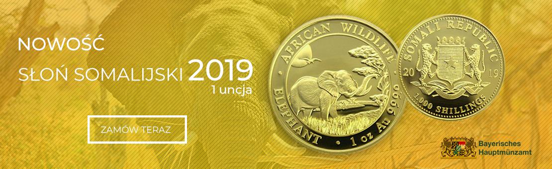 Słoń Somalijski 2019 1 uncja